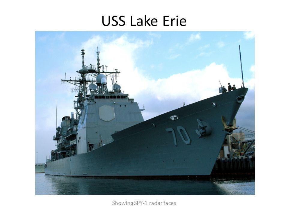 USS Lake Erie Showing SPY-1 radar faces