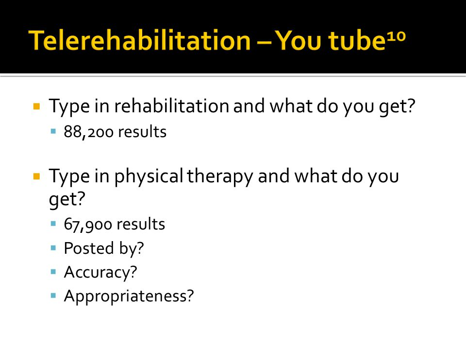 Type in rehabilitation and what do you get.