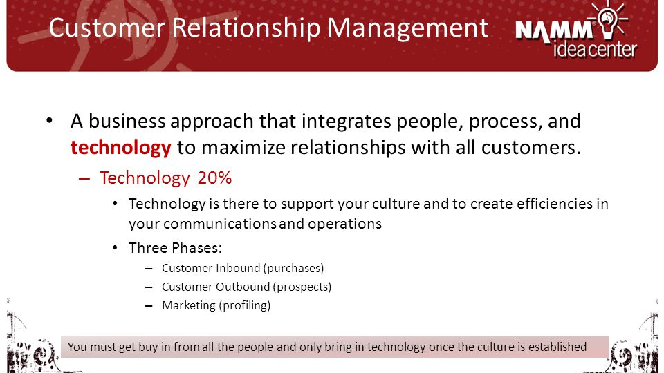 A business approach that integrates people, process, and technology to maximize relationships with all customers.