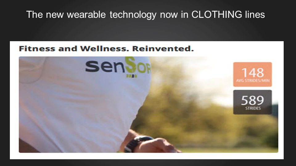 The new wearable technology now in CLOTHING lines