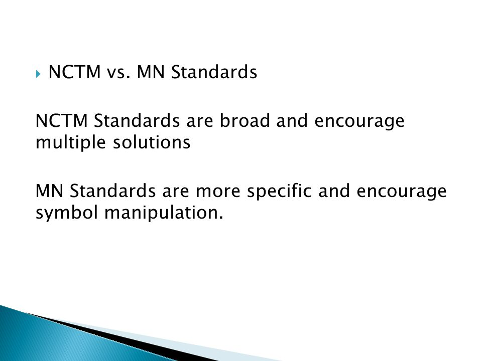 NCTM vs.