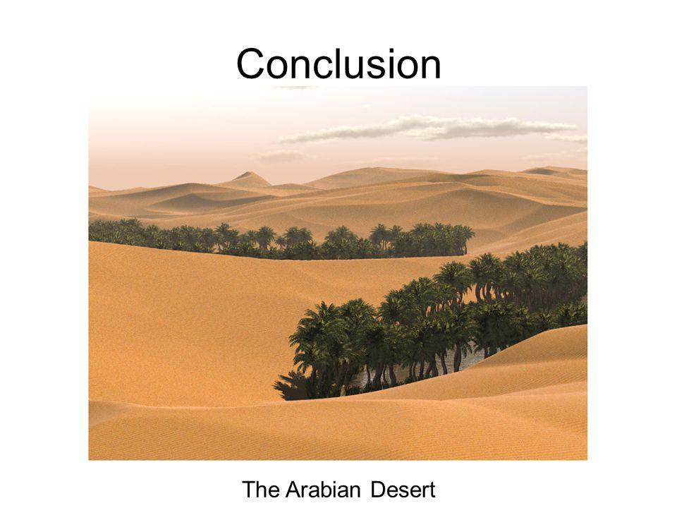 Conclusion The Arabian Desert