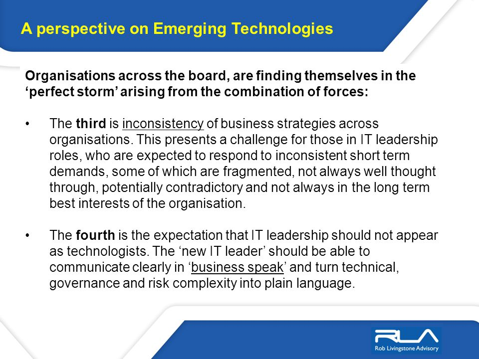Determining the optimal approach in the use of Technology for the enterprise is not a trivial exercise