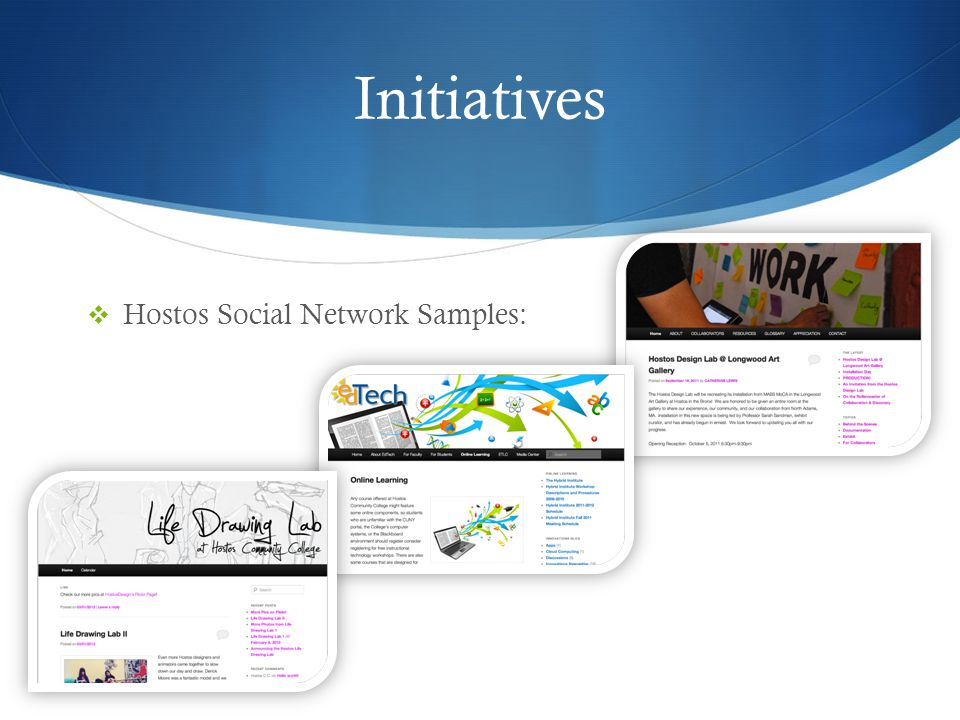 Initiatives Hostos Social Network Samples: