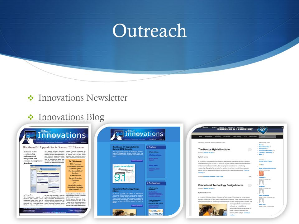 Outreach Innovations Newsletter Innovations Blog