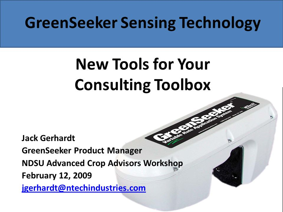 What are Consultants Saying.2008 Missouri Crop Consultant comments: – GS helps me in my work.