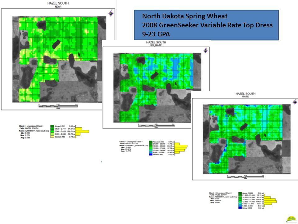 North Dakota Spring Wheat 2008 GreenSeeker Variable Rate Top Dress 9-23 GPA