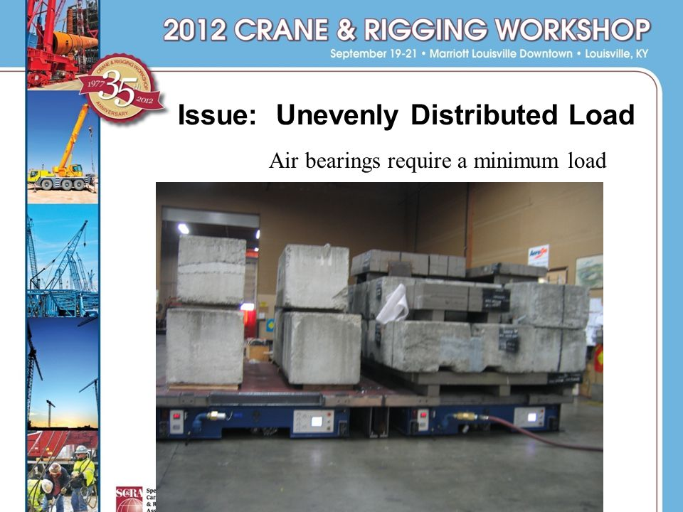 Issue: Unevenly Distributed Load Air bearings require a minimum load.