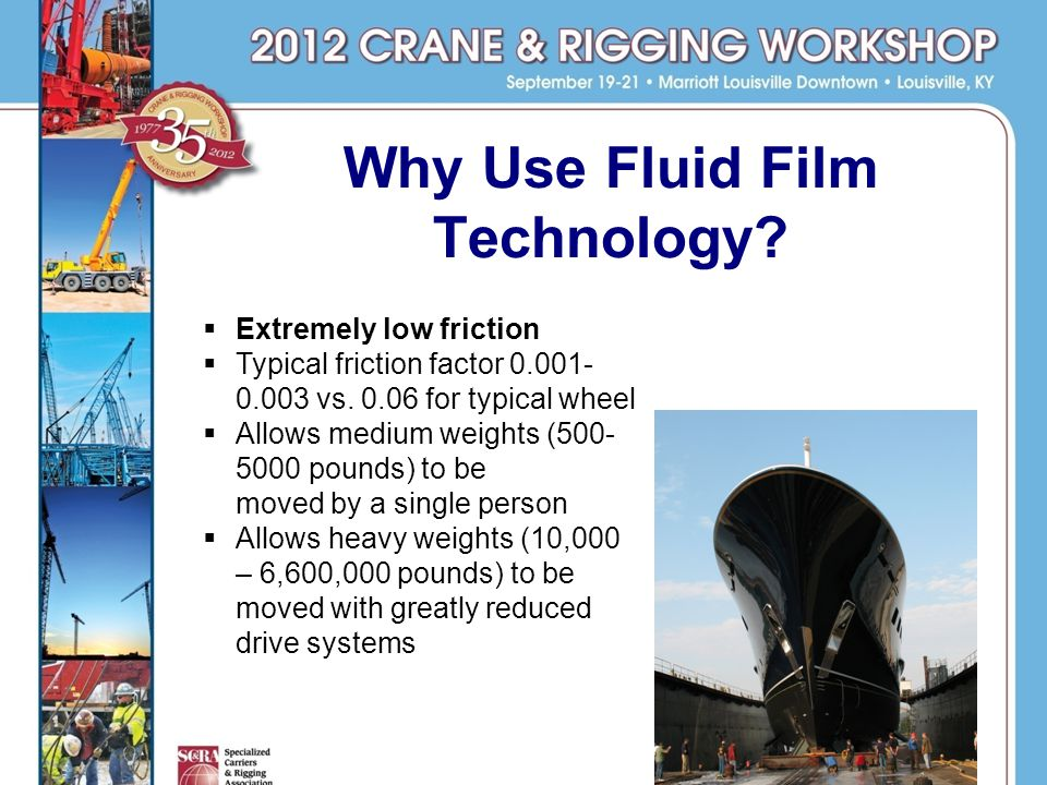 Why Use Fluid Film Technology.Extremely low friction Typical friction factor 0.001- 0.003 vs.