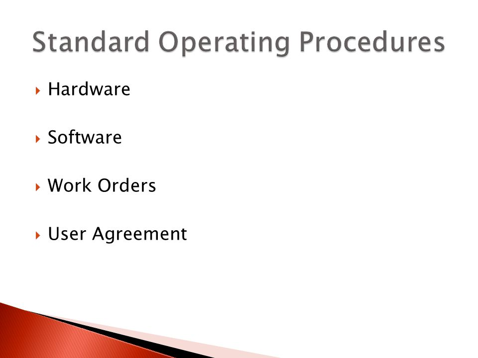 Hardware Software Work Orders User Agreement