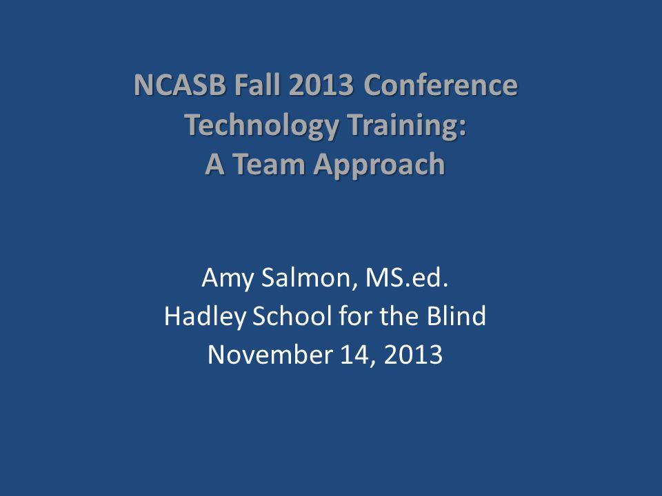 Contact us Amy Salmon (847) 784-2876 salmon@hadley.edu The Hadley School for the Blind 700 Elm Street Winnetka, IL 60093 (847) 446-8111 Toll Free: 800-323-4238 www.hadley.edu