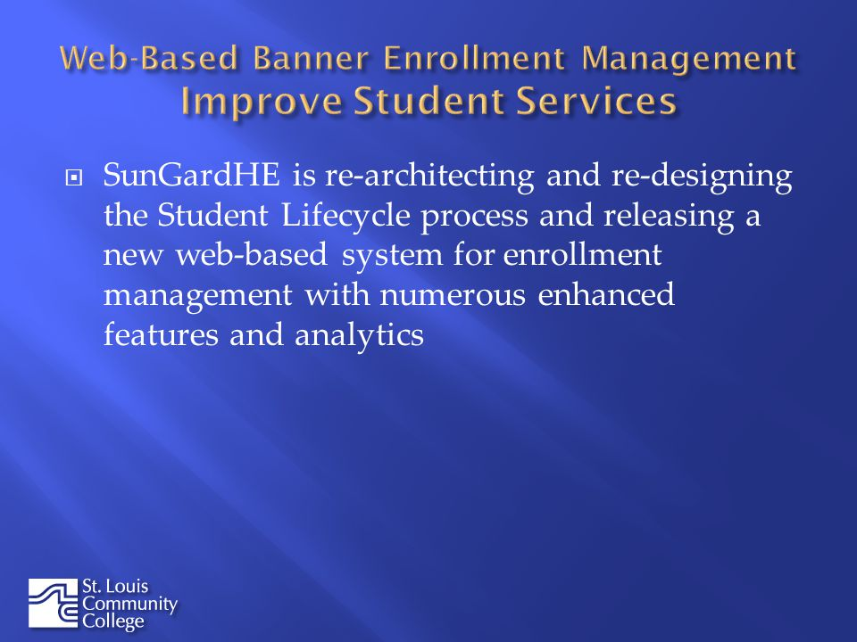 SunGardHE is re-architecting and re-designing the Student Lifecycle process and releasing a new web-based system for enrollment management with numero