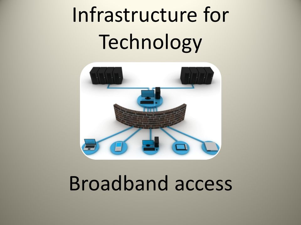 Infrastructure for Technology Broadband access