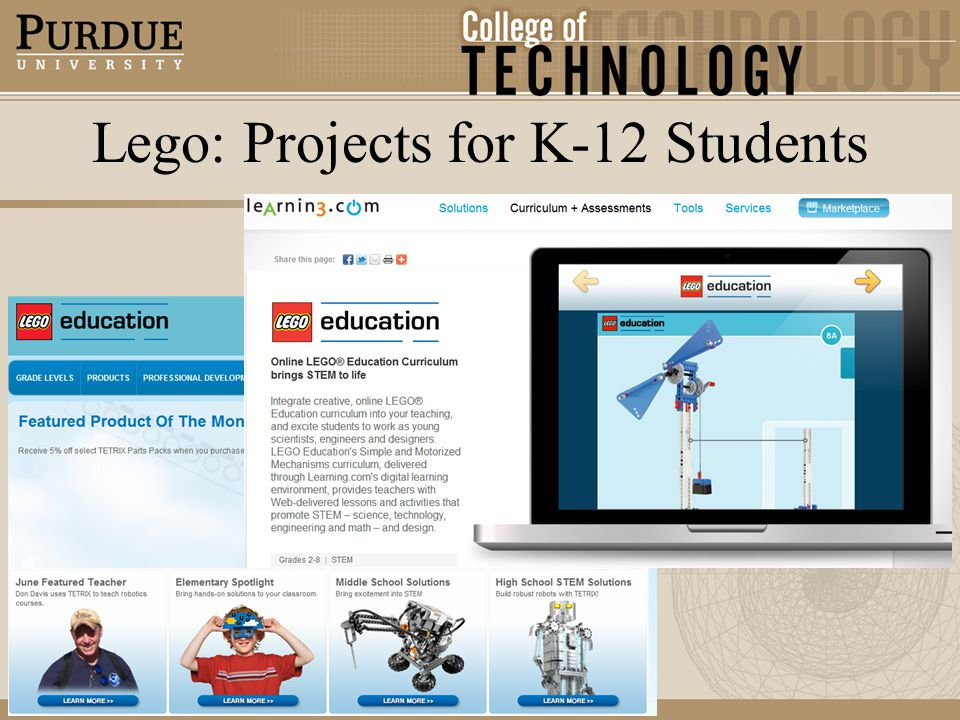 Lego: Projects for K-12 Students