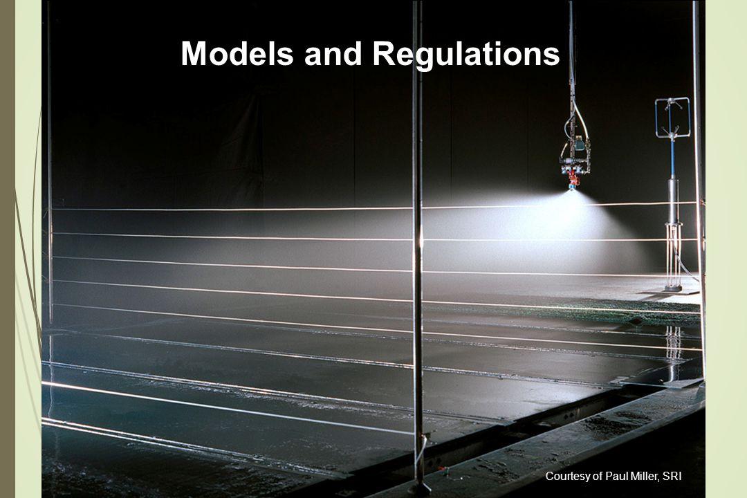 Courtesy of Paul Miller, SRI Models and Regulations