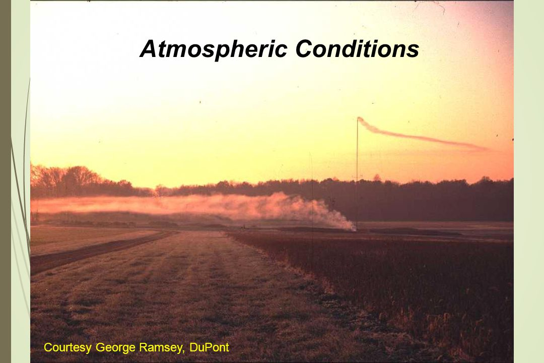 Atmospheric Conditions Courtesy George Ramsey, DuPont
