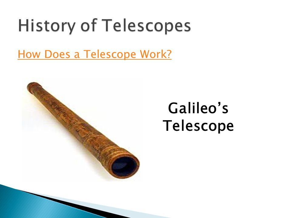 How Does a Telescope Work Galileos Telescope