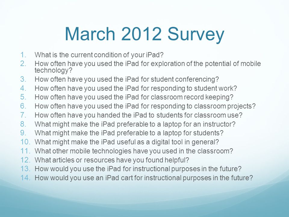 What uses or apps have you discovered for the iPad that might make it preferable to a laptop for an instructor.