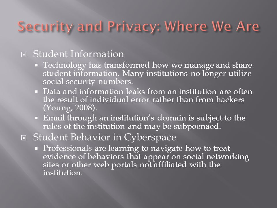 Student Information Technology has transformed how we manage and share student information.