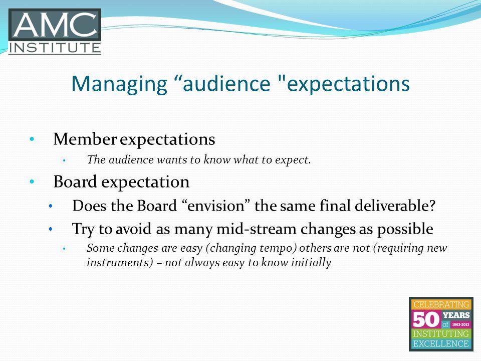 Managing audience