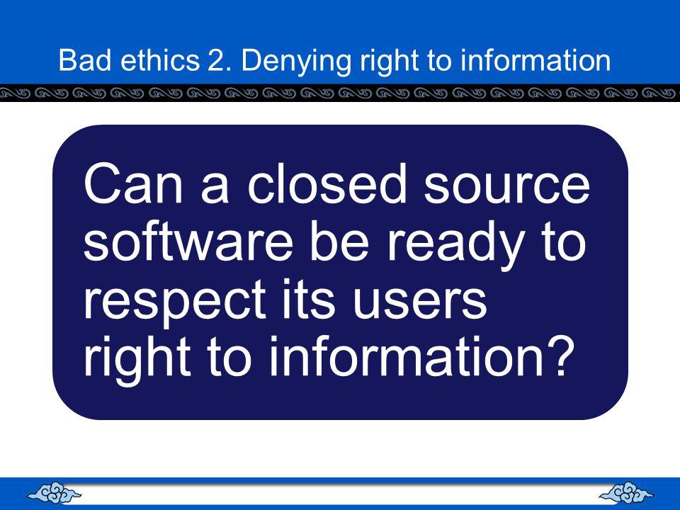 Bad ethics 2.