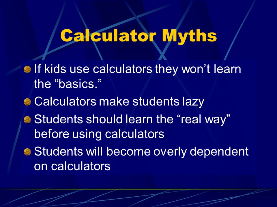 The More Things Change… Students today cant prepare bark to calculate their problems.
