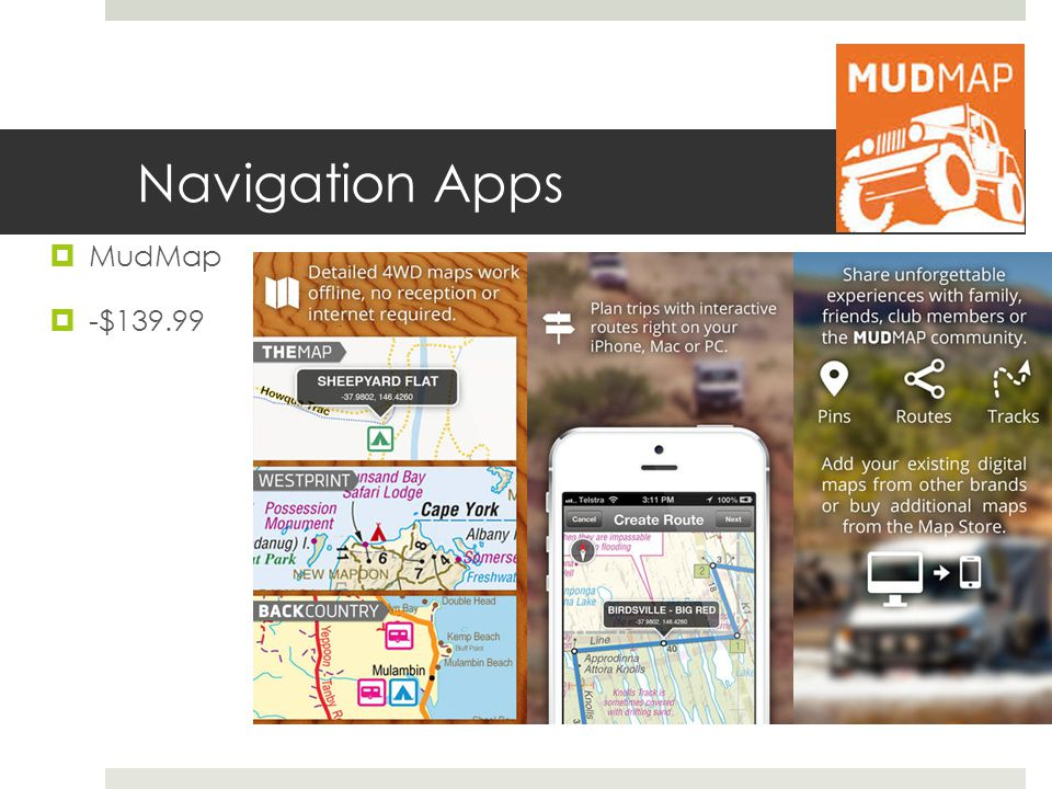 Navigation Apps MudMap -$139.99