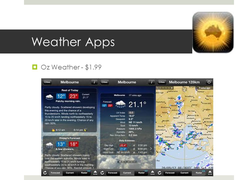 Weather Apps Oz Weather - $1.99