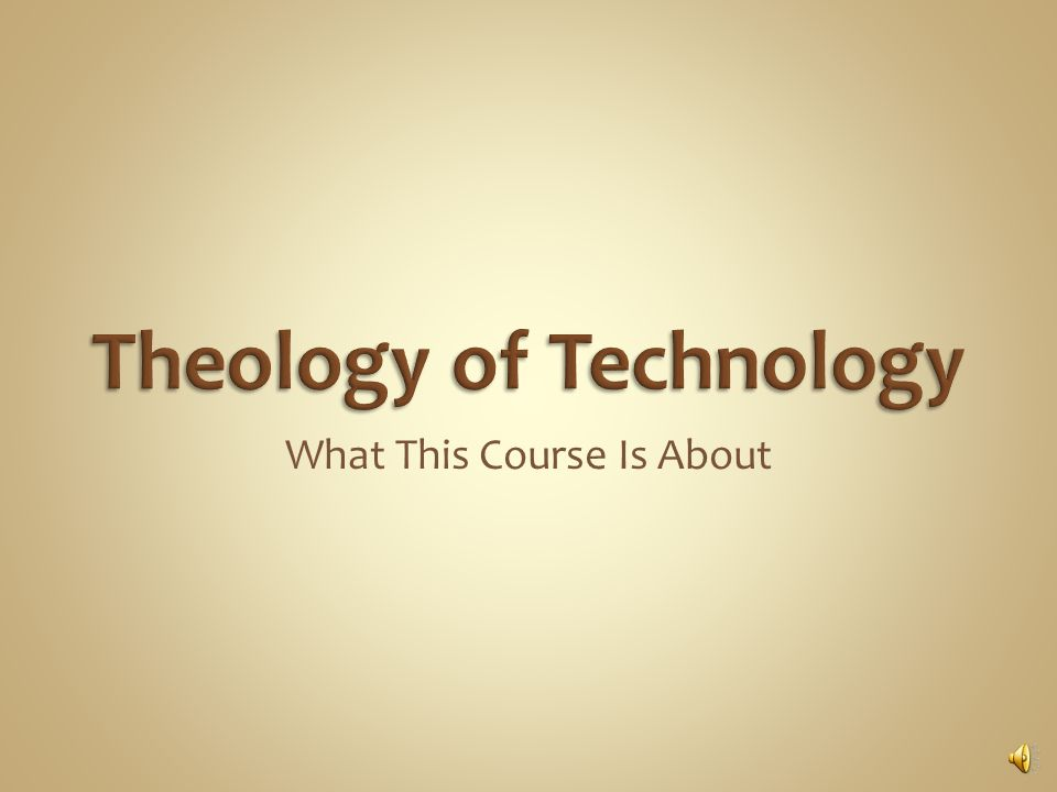 What This Course Is About