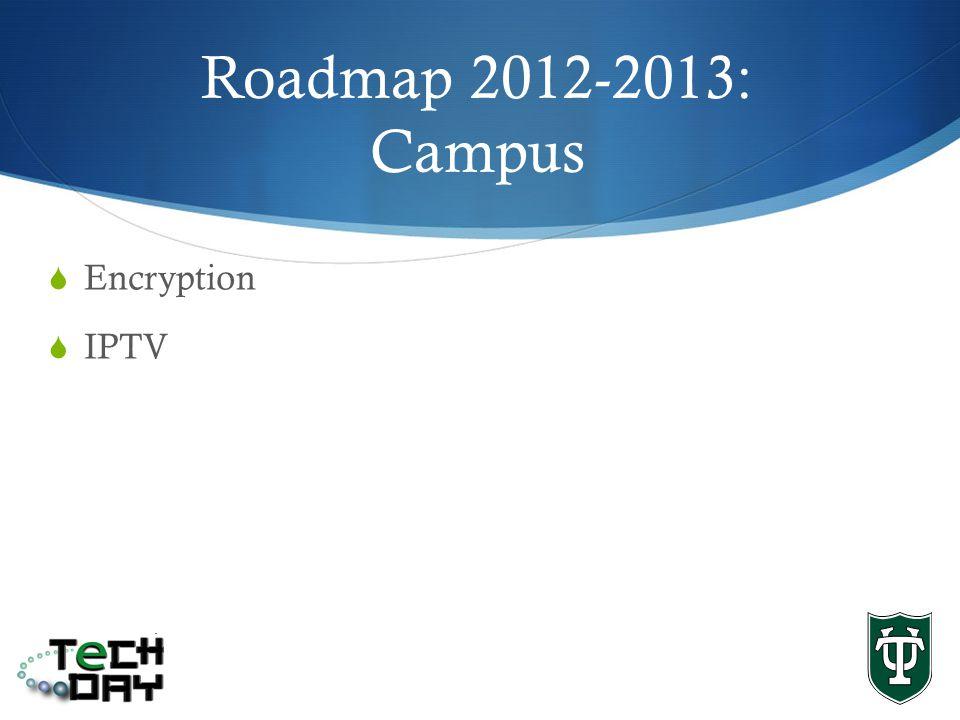Encryption IPTV Roadmap 2012-2013: Campus