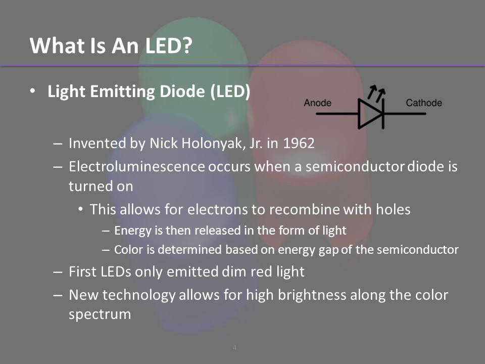 What Is An LED. Light Emitting Diode (LED) – Invented by Nick Holonyak, Jr.