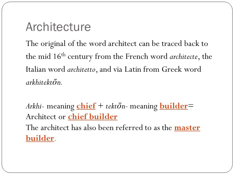 What is architecture.the art and science of designing and erecting buildings.
