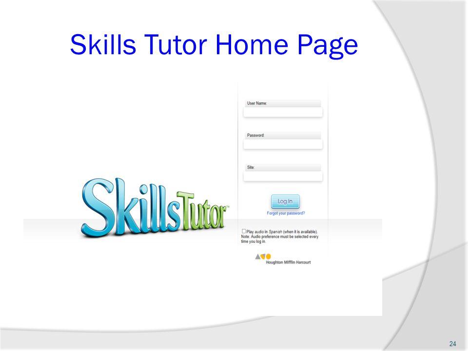 Skills Tutor Home Page 24