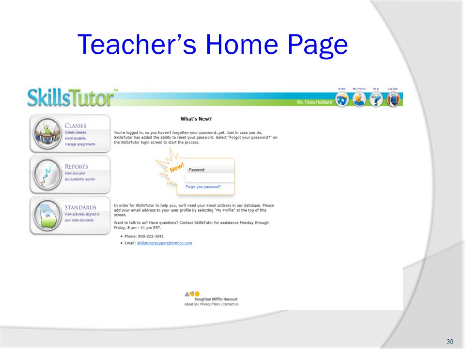 Teachers Home Page 30