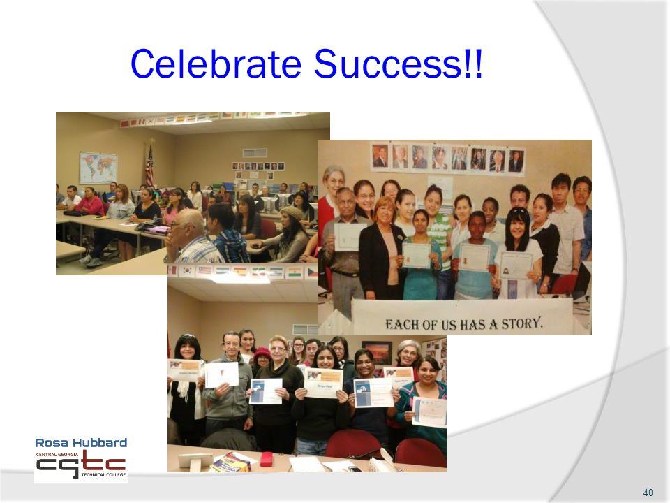 Celebrate Success!! 40
