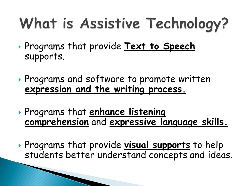 Programs that provide Text to Speech supports.