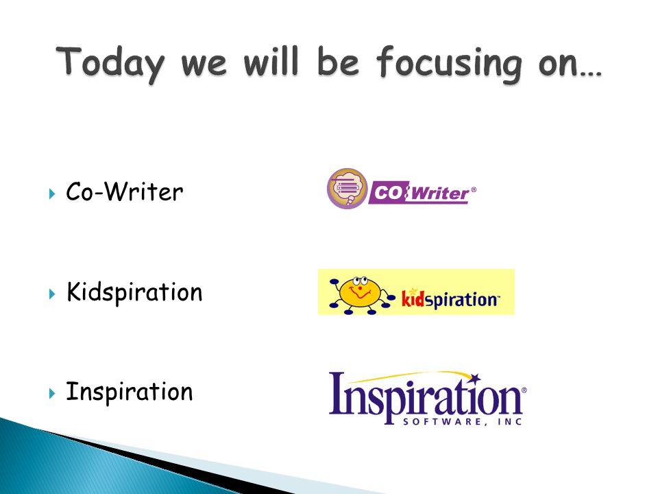 Co-Writer Kidspiration Inspiration