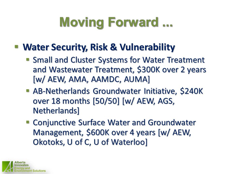 Water Security, Risk & Vulnerability Water Security, Risk & Vulnerability Small and Cluster Systems for Water Treatment and Wastewater Treatment, $300