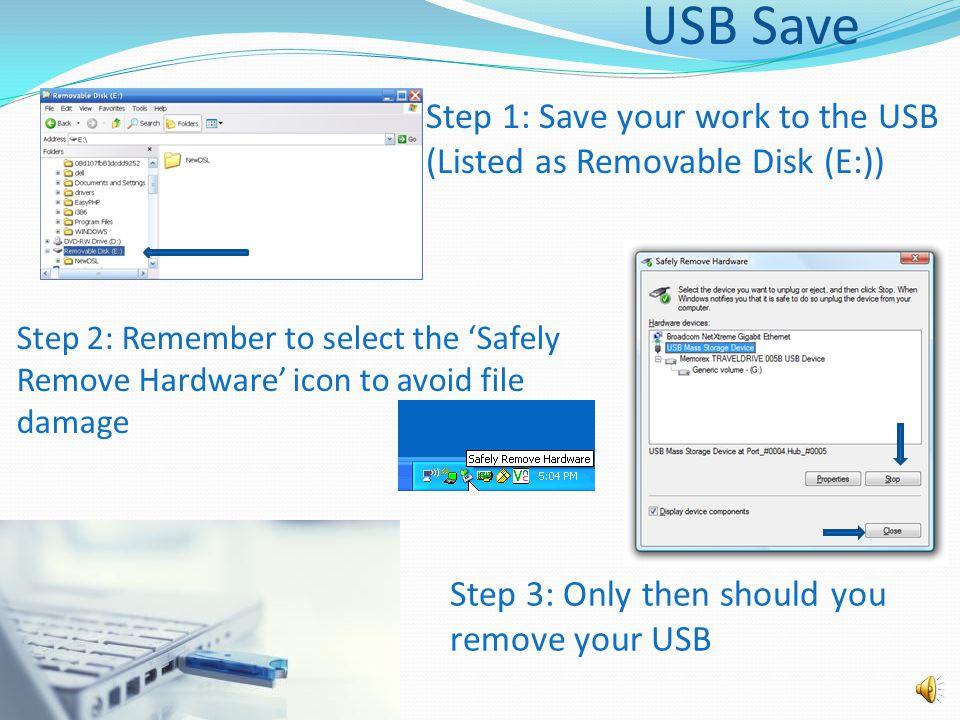 File Backup Options USB/Flash Drive DVD/CD External Hard Drive