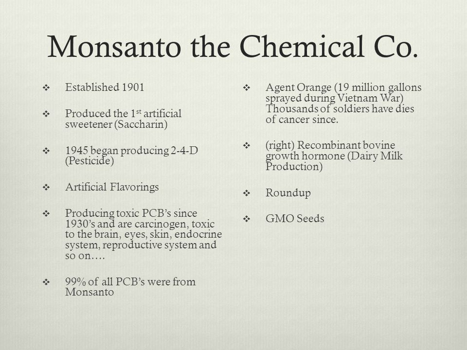Monsanto the Chemical Co.