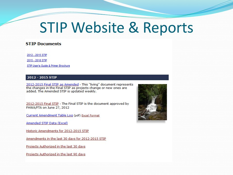STIP Website & Reports