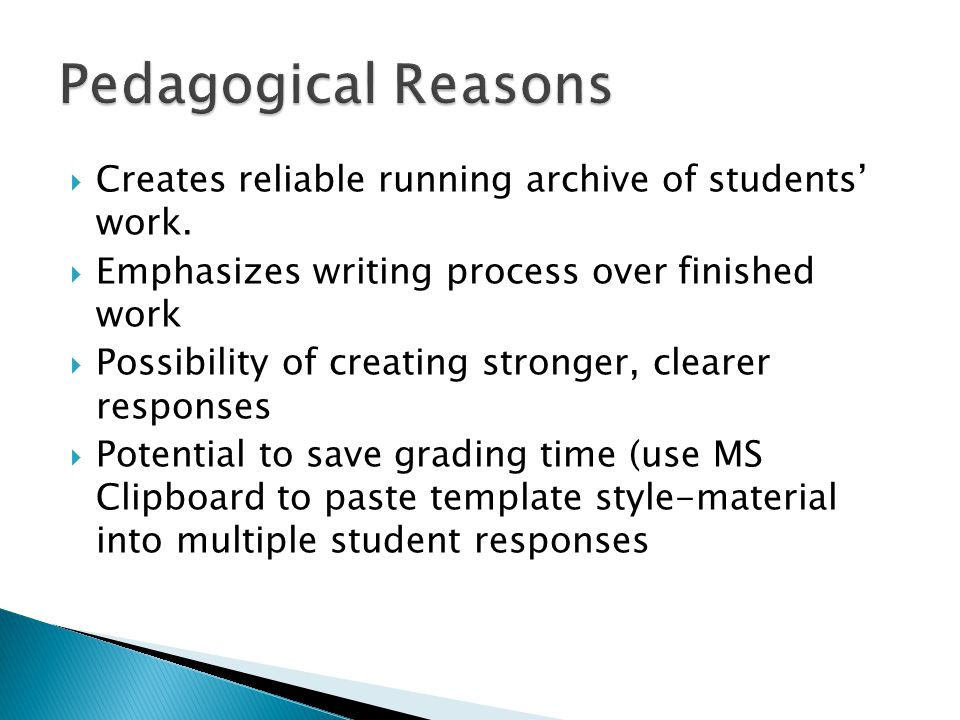 Creates reliable running archive of students work.