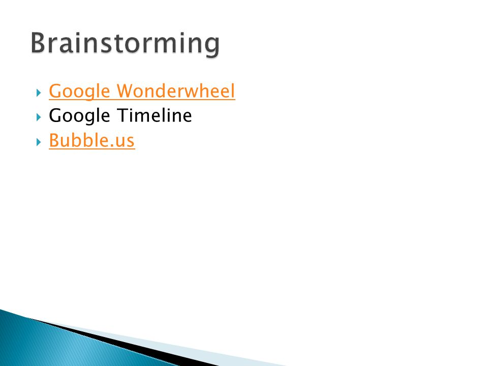Google Wonderwheel Google Timeline Bubble.us