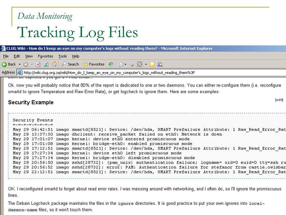 44 Data Monitoring Tracking Log Files