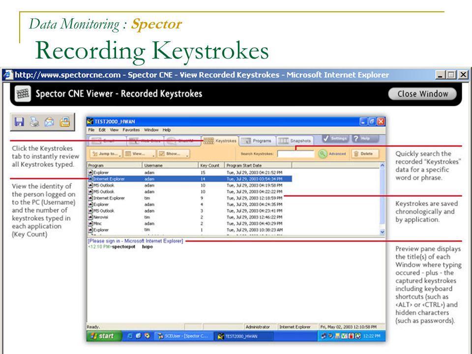 64 Data Monitoring : Spector Recording Keystrokes