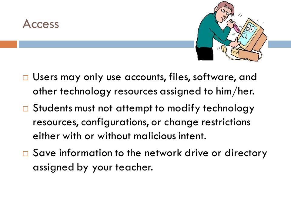 Help your teacher remember: Teachers should list problems on the chart on top of the laptop cart so other teachers are aware of the problem and that it has been reported.