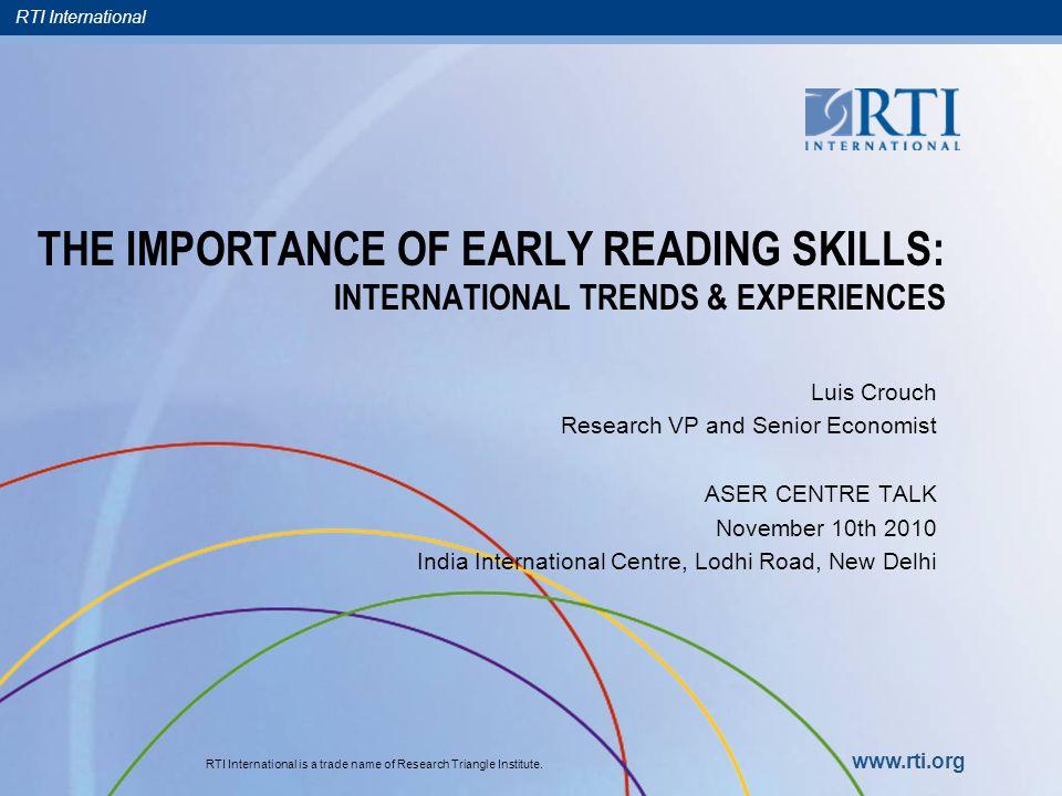 RTI International 21 Outline 1.Motivation programmatic/bureaucratic Pedagogical 2.