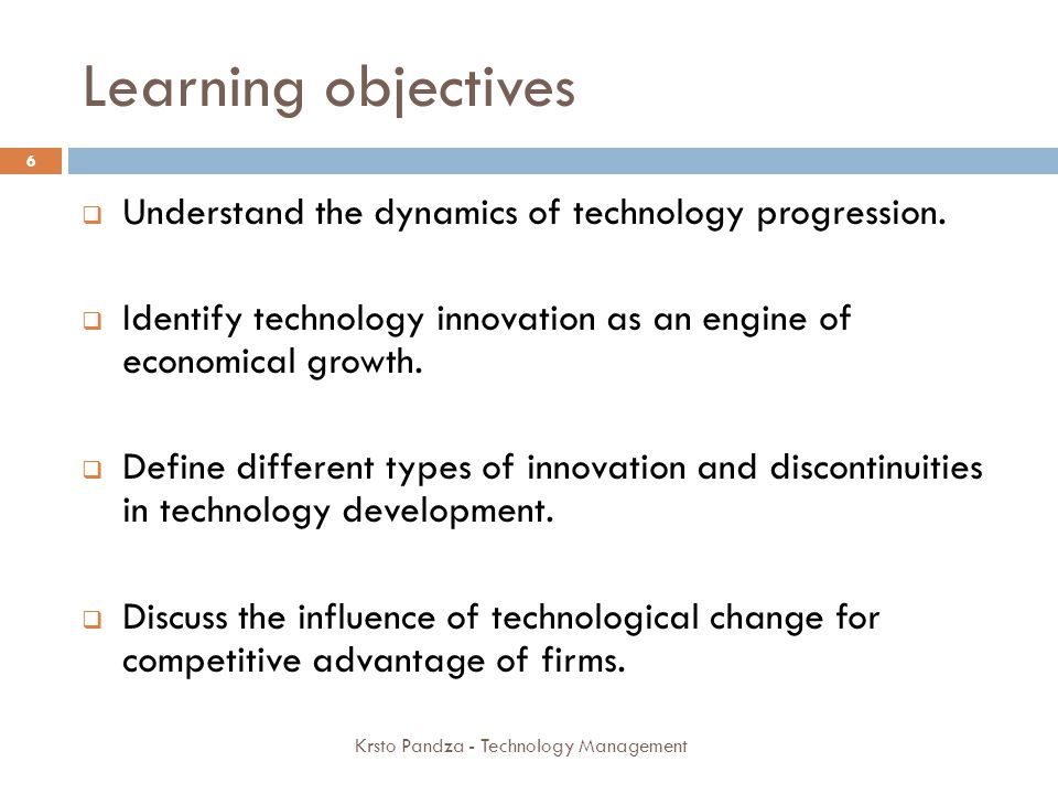 Defining technology 1 Technology is artificial as opposite to natural It is created/manufactured by humans Technology may be regarded as simply the way things are done It is a set of practices Relevant in the context of use A set of processes, tools, methods, procedures and equipment to produce goods or service 7 Krsto Pandza - Technology Management