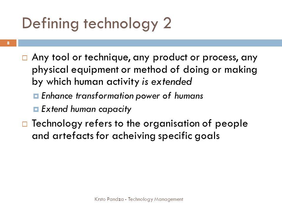 STRATEGIC ANALYSIS OF TECHNOLOGY Day 1 39 Krsto Pandza - Technology Management