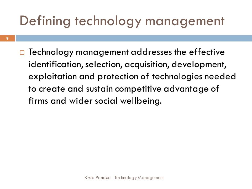 Structure of the Delphi project Krsto Pandza - Technology Management 80